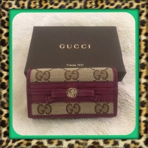 👑AUTHENTIC Gucci Key and Card Holder